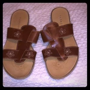 Parade make in Italy brown leather sandals